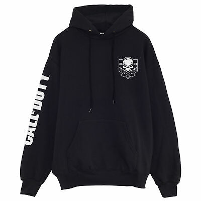 £43.99 • Buy Mens Call Of Duty Pullover Hoodie Skull Logo Breast Print Official Merchandise