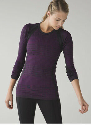 $ CDN69 • Buy Lululemon About That Base Long Sleeve Tender Violet Black Size 6