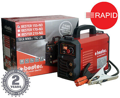 £160 • Buy Arc Welder Lincoln Bester 155-ND Inverter Package With Two Year Warranty - 230v