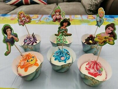 £2.99 • Buy Disney Princess 12x Wrappers 12xToppers Children Party Muffin Cupcake Decoration