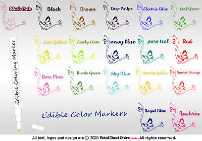£1.89 • Buy Edible Writing Marker Icing Pen Food Colour Cake Decorating Craft