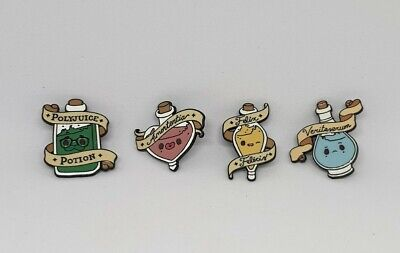 Harry Potter 4 Pc Potions Set Metal Enamel Pin Lapel Badge Polyjuice UK • 9.99£