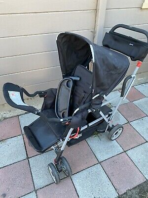 Joovy Caboose Ultralight Sit And Stand Double Stroller, Black • 79.59£