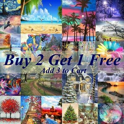 AU15.99 • Buy 5D Crystal Full Round Paint With Diamond Art Scenery Picture DIY Kits Embroidery