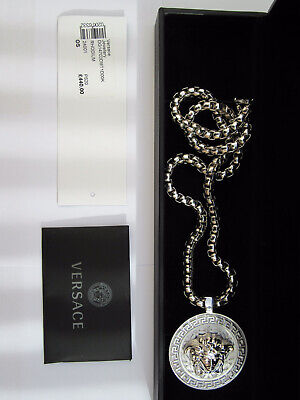 £349.99 • Buy 100% Genuine Versace Chain Medusa Necklace - Brand New With Tags & Box