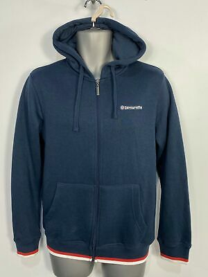 Mens Lambretta Small Navy Blue Zip Up Casual Hoodie Jumper Sweater Tracksuit Top • 12.49£