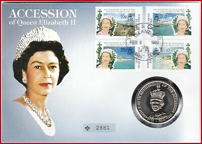 AU11.13 • Buy Turks And Caicos Inseln 5 Crowns 1992 ELIZABETH II ANNIVERSARY OF THE ACCESSION