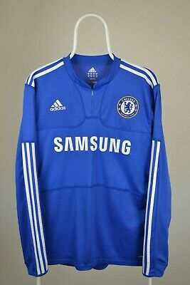 Chelsea Home Football Shirt 2009 2010 Jersey Long Sleeves Size M MEDIUM Adidas • 49.99£