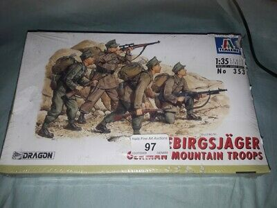 Dragon German Gebirgsjager Mountain Troops Italeri  Soldiers Model Kit 1/35 • 15.99£