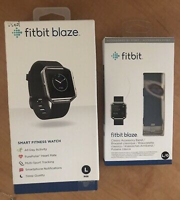 $ CDN66.62 • Buy Fitbit Blaze Smart Fitness Watch, Large With Extra Band - Blue - Used - 70