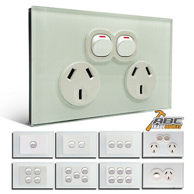 AU17.90 • Buy AU Standard Electrical Wall Power Socket Point GPO Glass Switch Panel Outlet 10A