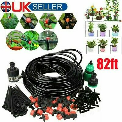 25M Micro Drip Irrigation System Automatic Watering Garden Hose Watering Kit UK • 10.88£