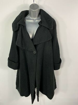 £19.99 • Buy Womens Darling Xl Xlarge Black 3/4 Sleeve Large Collar Woven Knitted Coat Jacket