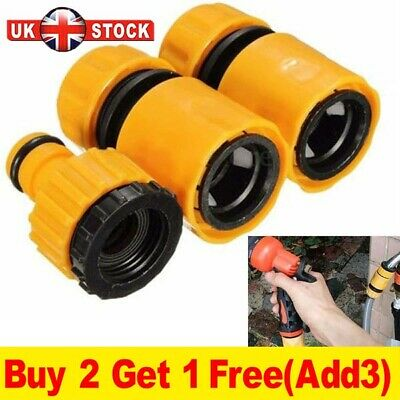 Garden Hose Connectors Set Watering Pipe Tap Plastic Connector Adaptor Fitting_r • 4.78£
