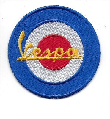 £2.99 • Buy VESPA SCOOTER SEW/IRON ON PATCh -  BLUE MOD TARGET RAF ROUNDEL