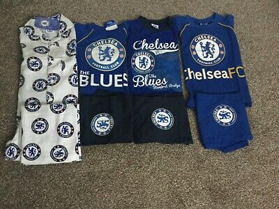 £5.50 • Buy NEW Official Boys Blue/White Chelsea FC Pyjamas Size 18 Months-6 Years FREE POST