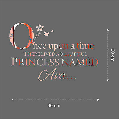 $50.73 • Buy Rose Gold Personalised Wall Stickers Event Decor Seating Plans Weddings Mirror