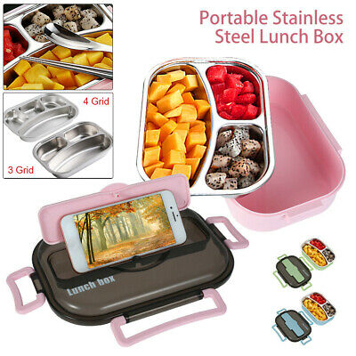 AU16.55 • Buy Stainless Steel Thermos Thermal Food Container Lunch Box Carrier School Office