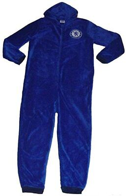 £19.99 • Buy Official Mens Chelsea FC Fleece Hooded All In One Pyjamas Gift Sizes S M L XL