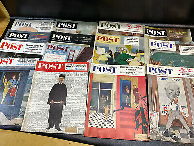 $ CDN57.16 • Buy Lot 16 Vtg The Saturday Evening Post Magazines 50s 60s Americana Norman Rockwell