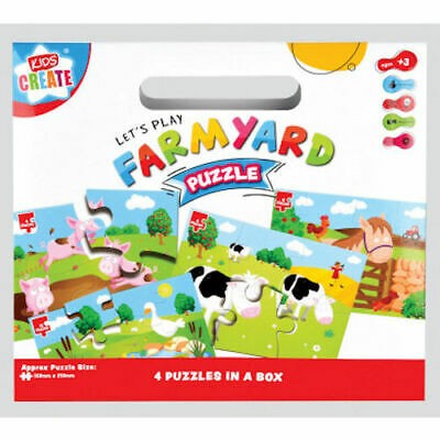 £6.99 • Buy Farmyard Puzzles 4 In 1 - My First Jigsaw Kids Create Children Ages 3+ Gift Idea