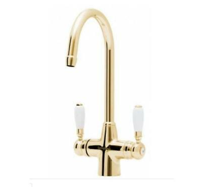 Astracast TP0483 Colonial Springflow Gold Kitchen Sink Mixer Tap • 149£