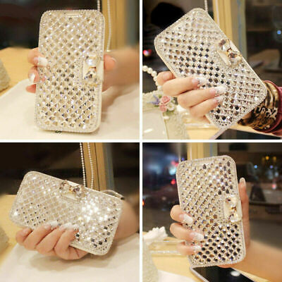 AU12.23 • Buy For IPhone 12 Pro Max/LG Stylo 6 5 Bling Glitter Diamond Wallet Case Card Slot