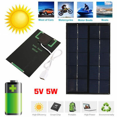 AU8.55 • Buy 5W 5V Portable USB Foldable Solar Panel Outdoor Battery Charger For Phone Hiking