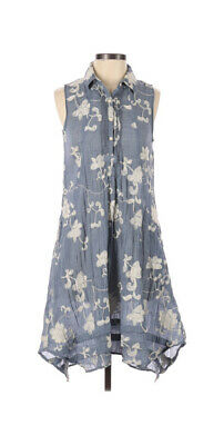 $ CDN58.21 • Buy Anthropologie Isabella Sinclair Dress XS Blue White Embroidered