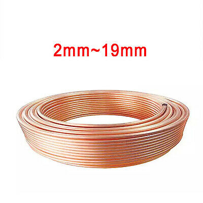 £5.31 • Buy Copper Tube Pipe Coil 2/3/4/5/6/8/10/12/14/16/19mm Air Conditioning/Water/Gas