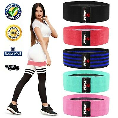 £3.95 • Buy Fabric Resistance Bands Heavy Duty Hip Circle Glute Leg Booty Band Set Non Slip
