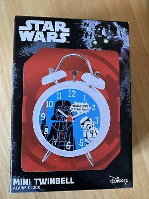 Star Wars Darth Vader Twinbell Mini Alarm Clock. Childs Bedroom Sci Fi Cool Gift • 8.20£