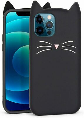£16.57 • Buy Cute IPhone 12 Case, IPhone 12 Pro Case, Black Whisker Cat Ears Funny Animals K