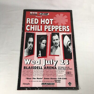 $49.99 • Buy Red Hot Chili Peppers With Dave Navarro 1997 Oahu Hawaii Concert Poster