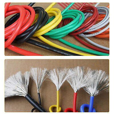 AU10.32 • Buy 28AWG 0.08mm² Flexible Silicone Cable, HIGH TEMP 200℃, 0.08mm Tinned Copper Wire