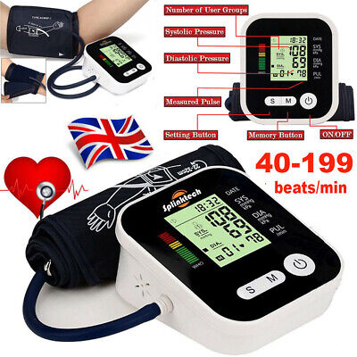 £14.29 • Buy Automatic Blood Pressure Monitor Upper Arm Digital Voice BP Machine With Cuff UK