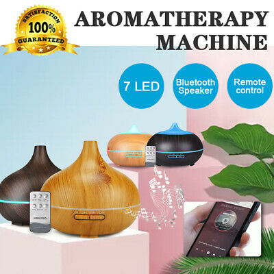 AU11.99 • Buy Diffuser Aroma Aromatherapy Essential Oil LED Humidifier Air Purifier 550/500ml