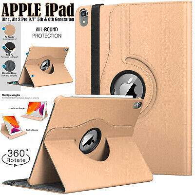 £6.64 • Buy Case For Apple IPad Air 1/2, 5th/6th (Gen) Smart Stand 360 Degree Rotating Cover