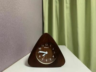 Wooden Triangle Alarm Clock, Bedroom Clock • 23.24£