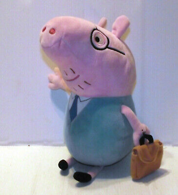12  Ty Beanies Daddy Pig With Bag Soft Toy - Peppa Pig • 9.99£