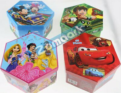 £8.99 • Buy Children Character Colouring Case Set 46 Pieces Art Craft Hexagon Stationery Box