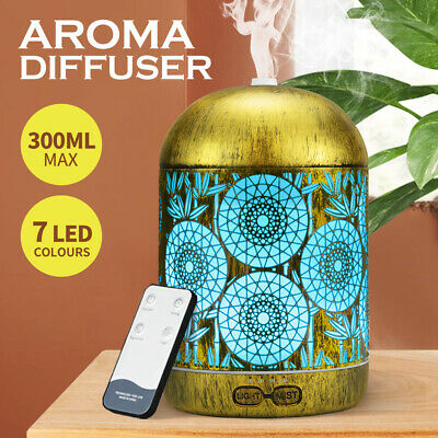 AU29.95 • Buy Aroma Aromatherapy Diffuser LED Essential Oil Ultrasonic Air Humidifier Purifier