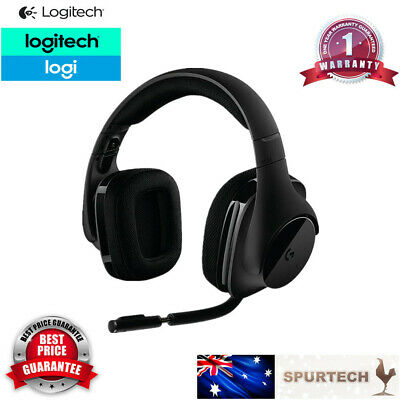 AU145 • Buy Logitech G533 Wireless Gaming Headset With DTS Dolby 7.1 Surround Black