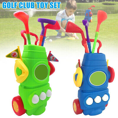 Portable Plastic Mini Golfs Club Set Indoor Outdoor Fun Play Game Kids Toys Gift • 20.89£