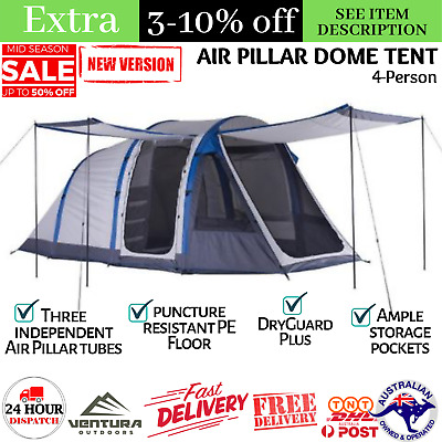 AU387.80 • Buy Air Pillar Dome Tent Camping Hiking Trekking Outdoor 4-Person Canopies Shelter