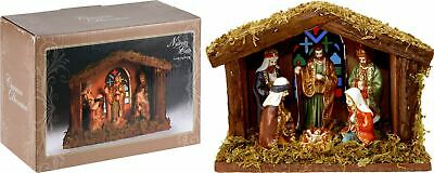 £15.99 • Buy Battery Operated Light Up LED Nativity Stable And Figurines Set