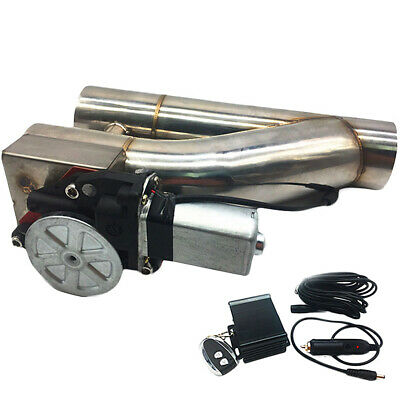 $ CDN161.12 • Buy Patented 2.5  63mm Electric Exhaust Downpipe Cutout E-Cut Out Dual-Valve Remote