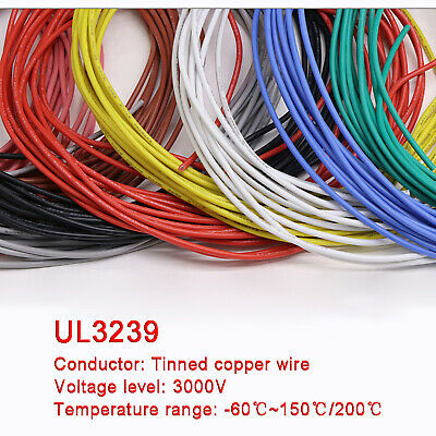 AU9.30 • Buy 28AWG 0.08mm² Flexible Silicone Wire Cable , HIGH TMPE 200℃, 3KV High Voltage