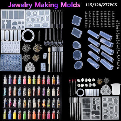 £7.39 • Buy Mold Tools Kit Resin Casting Molds For Crafts Silicone Epoxy Jewelry DIY 277PCS