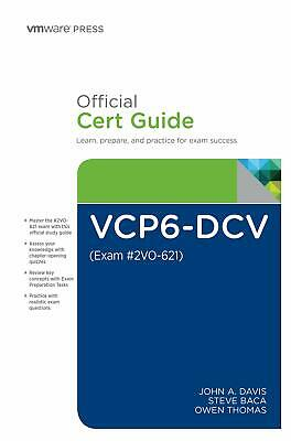 AU62.57 • Buy VCP6-DCV Official Cert Guide (Covering Exam #2VO-621) (Vmware Press Certificatio